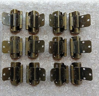 Wrap Self Closing Cabinet Hinge (6 Pair (12 Hinges) Partial Wrap Self Closing Cabinet Hinge 3/8 Inset 3/8 Overlay )