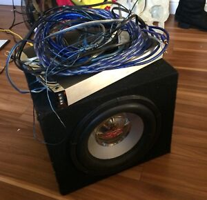 Subwoofer with Amp and Wiring