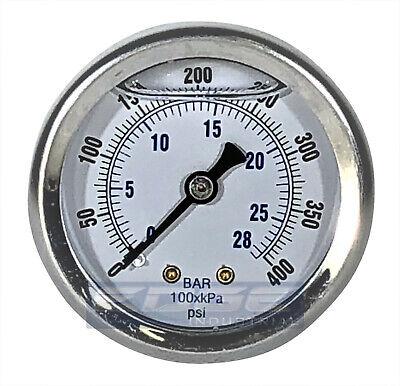 Liquid Filled Pressure Gauge 0-400 Psi 2 Face 14 Back Mount