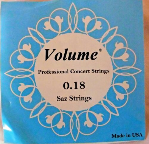 VOLUME  STRING SET FOR   SHORT  NECK SAZ BAGLAMA  0.18 MM  !!!!!!!!!