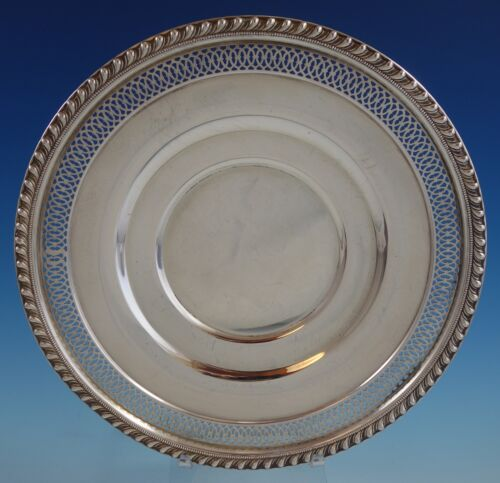 English Gadroon by Gorham Sterling Silver Serving Plate Pierced Edge (#2542)