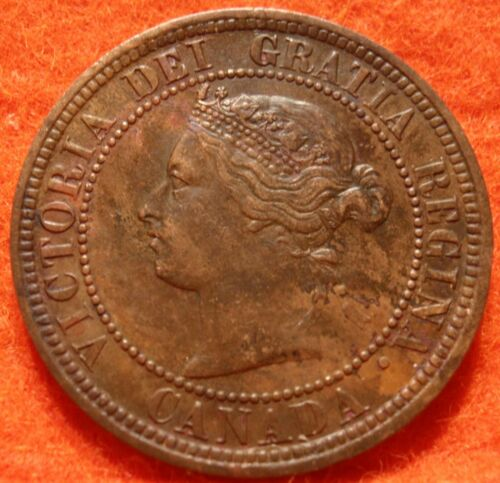 1876 H AU-UNC High Grade CANADA LARGE CENT Victoria COIN CANADIAN