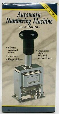 Rogers Automatic Numbering Stamp Machine With Ink And Stylus - New Sealed