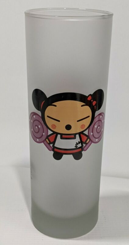 Pucca frosted glassware Vooz Character System Avenue of the Stars pigtails lolli