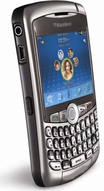 New T-mobile Blackberry Curve  WIFI cell phone Titanium Smartphone MP3