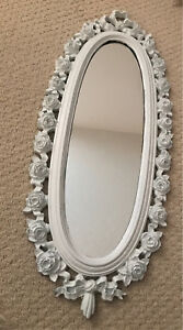Rustic Oval Shaped Mirror