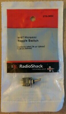 New Radioshack Spst 3a 125vac Micromini Toggle Switch 2750624 Free Shipping