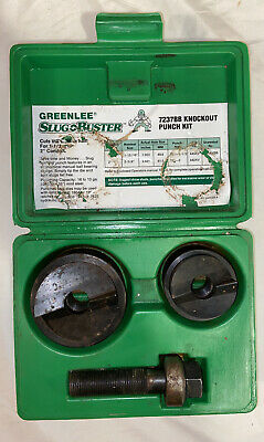 Greenlee Slug Buster 7237bb Knock Out Punch Kit 1-12 And 2 Conduit