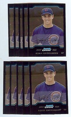 ADAM GREENBERG - Cubs - 2004 Bowman Chrome Baseball Rookie Card #180 2004 Bowman Baseball Rookie Card