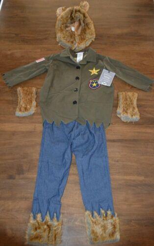 Pottery Barn Kids Werewolf Big Head Halloween Costume 7-8 Years NEW Big Bad Wolf