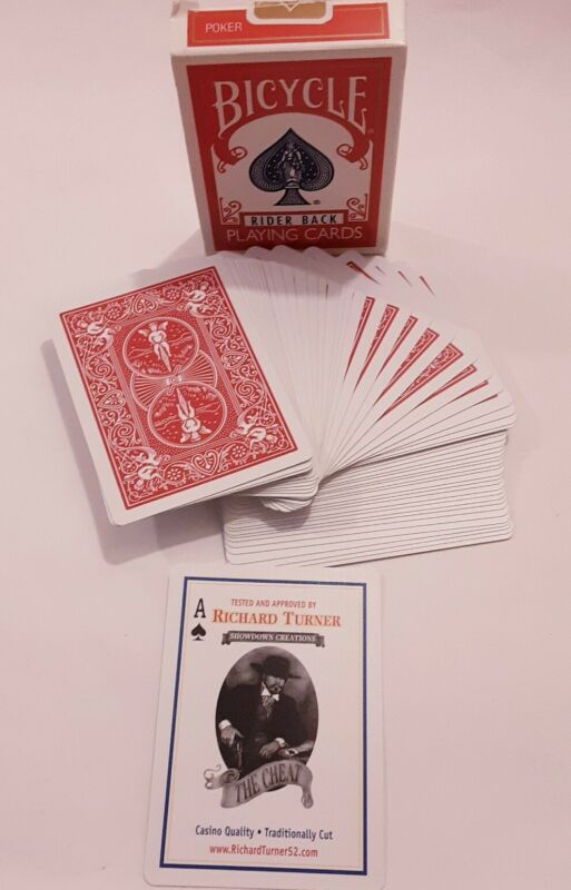 Bicycle Richard Turner Rider The Cheat back deck of playing cards professionals