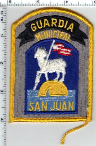 Guardia Municipal San Juan (Puerto Rico) Shoulder Patch from the 1980