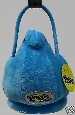 Peeps Easter Halloween Small Blue Chick Plush Tote Basket 8x6 NWT - Peeps Halloween