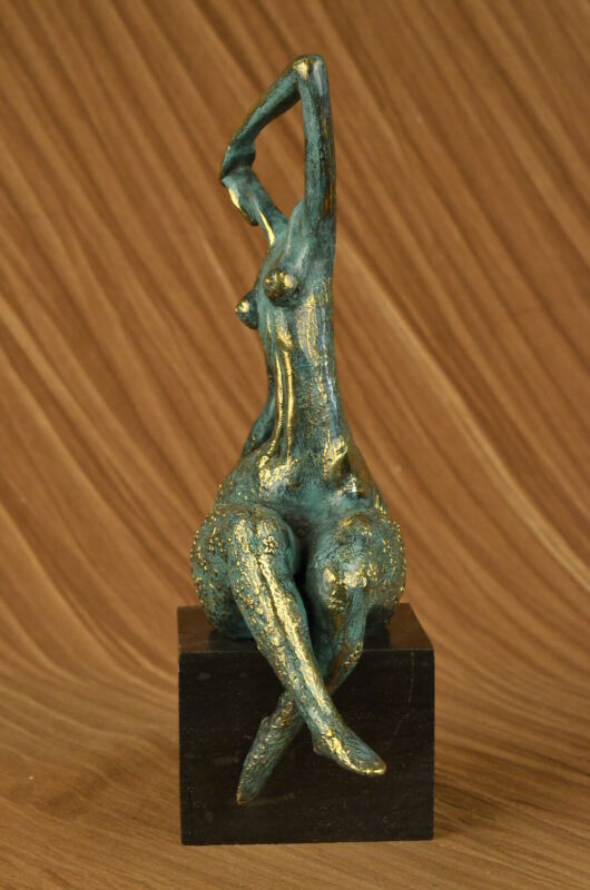 COLLECTIBLE BRONZE SCULPTURE STATUE Abstract Modern Nude Abstract Female by Milo