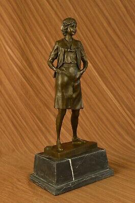 Echt Handgefertigt Bronze Skulptur Mom Modern Art Déco Muttertag Figur Verkauf ()