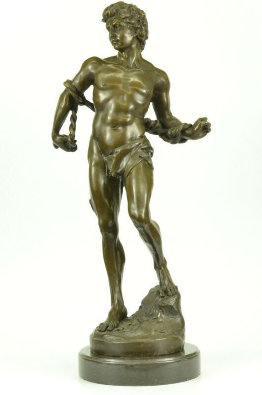 Hermes Nude Male David Goliath Bronze Marble Statue Medici Palace Florence Decor