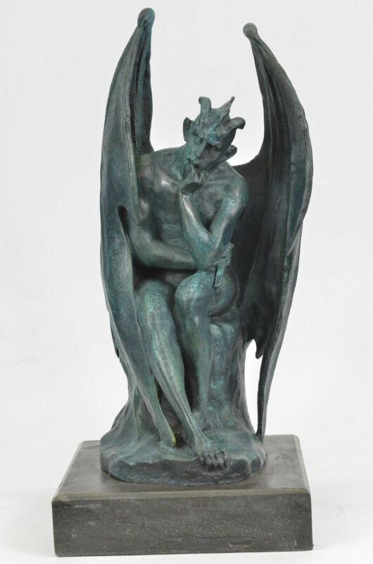 Satan Lucifer Devil Statue Bronze Satanism Baphomet Hot Cast Marble Decorative