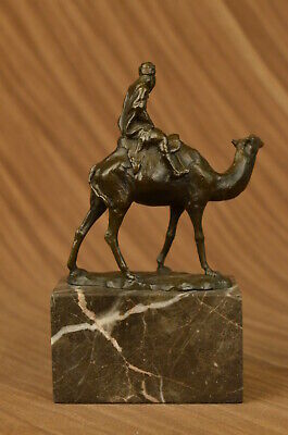 Unterzeichnet Vienna Bronze Bergman Arabische Mann Riding Kamel Jockey Mit ()