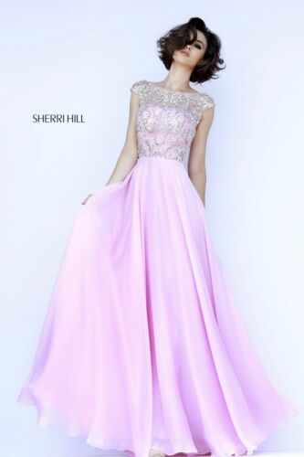 Sherri Hill Prom Dress Formal Evening Gown Style 32017 Pink Size 12