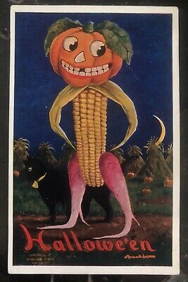Halloween 1910 Movie (1910 East Brady PA Usa Picture Postcard PPC Cover Halloween)
