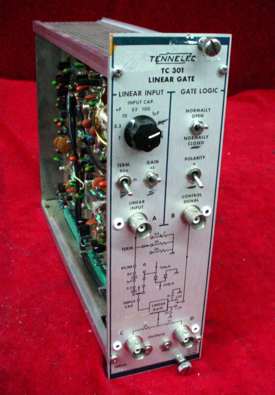 Tennelec TC 301 Linear Gate NIM BIN Plug-In Module TC301