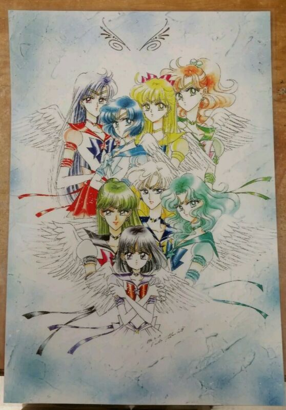 Sailor Moon Manga Art Poster 11x17 Laminated