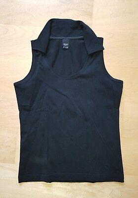 ESPRIT Collection ° T-Shirt Shirt Blazershirt Polo schwarz ° Gr. S M 36 38 ° TOP Shirt-polo-schwarz