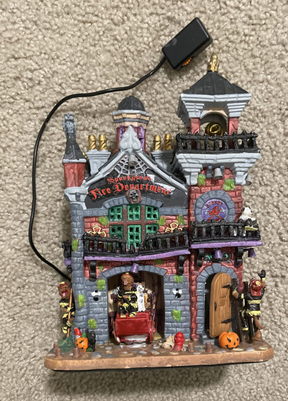Lemax Spooky Town SPOOKYTOWN FIRE DEPARTMENT #15191 RETIRED READ!