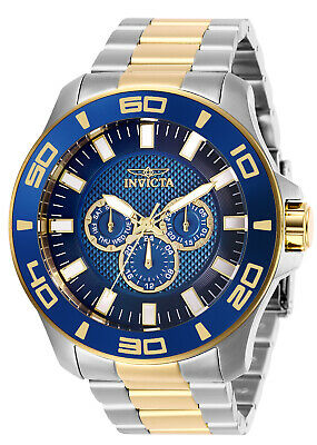 Invicta Men's Watch Pro Diver Chronograph Blue Dial Two Tone Bracelet 27998