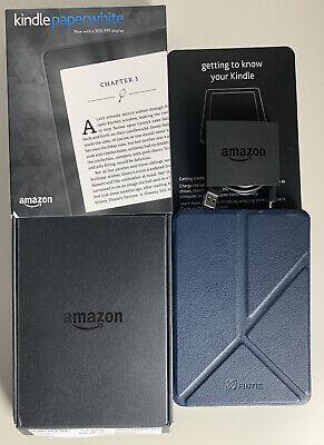 Amazon Kindle Paperwhite 7th Generation 4GB Wi-Fi 6in Black DP75SDI Bundle