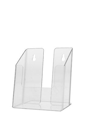 Clear Brochure Box Holder For 4w Literature Wall Or Counter Lot Of 24