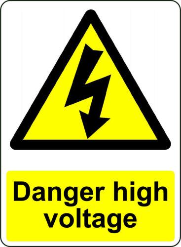 WARNING DANGER HIGH VOLTAGE OSHA DECAL SAFETY SIGN STICKER 3M USA MADE
