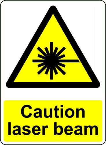 WARNING CAUTION LASER BEAM OSHA DECAL SAFETY SIGN STICKER 3M US MADE