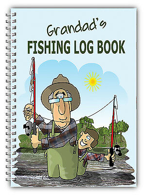 A5 DAILY FISHING LOG BOOK/DIARY/PERSONALISED BIRTHDAY DAD FATHERS DAY GIFT 05