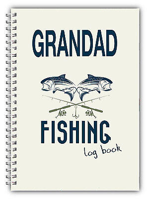 A5 FISHING LOG BOOK/ DAILY FISHING DIARY/ PERSONALISED DAD FATHERS DAY GIFT/06