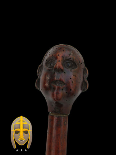 Rare Early American wooden walking cane of George Washington, 18th century