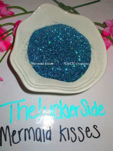 "Glitter for Tumblers ""Mermaid Kisses""  Blue Epoxy Resin Glitter Ships from USA"