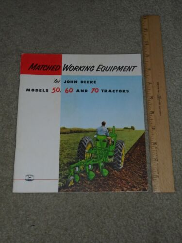 VERY RARE 1954 John Deere Models 50, 60 and 70 68-PAGE BROCHURE! WOW