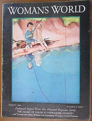 WOMAN'S WORLD MAGAZINE  August 1930 Frees children's story  FASHION  FICTION