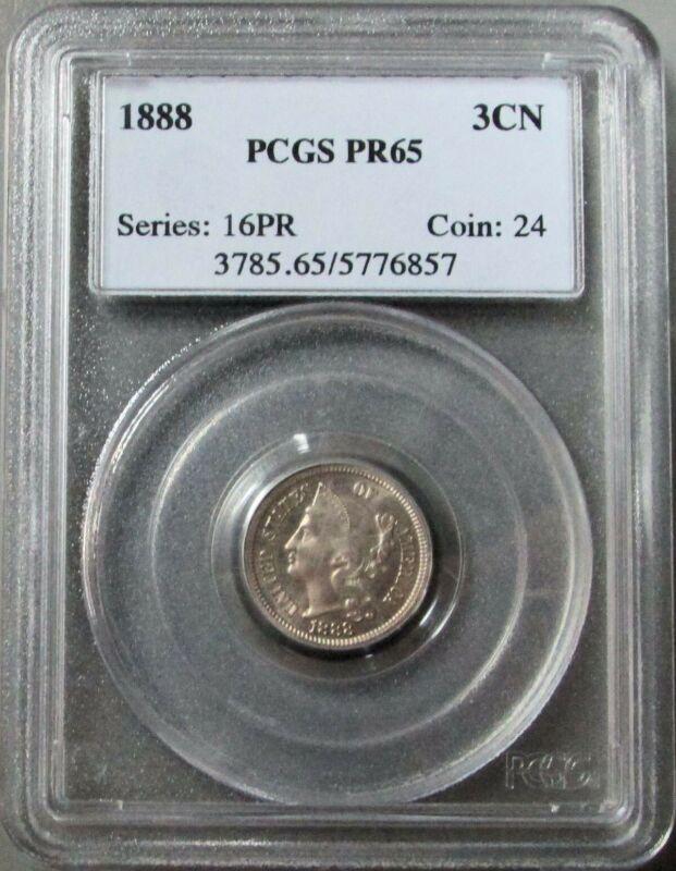 1888 3 CENT NICKEL 3CN PCGS PROOF 65