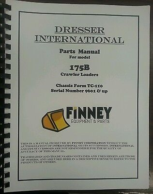 International Dresser 175b Crawler Loader Parts Manual Book Tc-110 Ih Tc110c