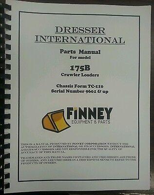 International Dresser 175b Crawler Loader Parts Manual Book Tc-110 Ih Tc110c