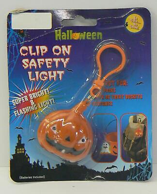 Halloween Clip On Safety Lights ( 3 Styles) Batteries Included