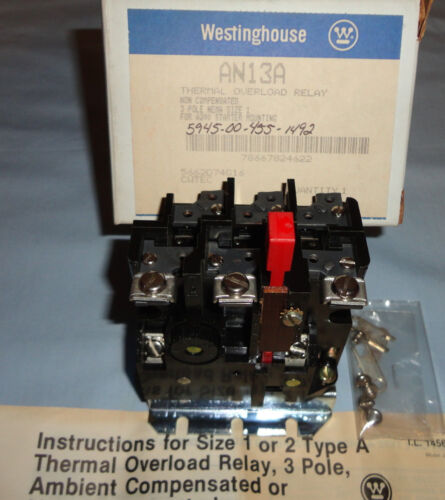 WESTINGHOUSE HEATER OVERLOAD H29 RELAY H 29 THERMAL