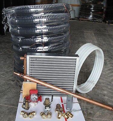Outdoor Wood Furnace Boiler installation kit/heat exchanger/plate exchanger/ pex