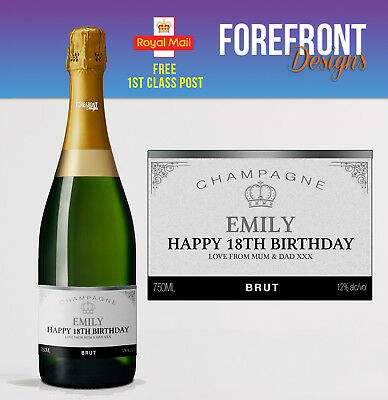 Personalised Champagne bottle label Perfect Birthday/Engagement/Graduation Gift - Champagne Bottle Labels