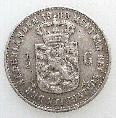 Nederland 1/2 Gulden 1909 Wilhelmina