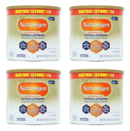 Enfamil Nutramigen Infant Formula Powder, Case of 4-19.8oz Cans, EXP 3/22