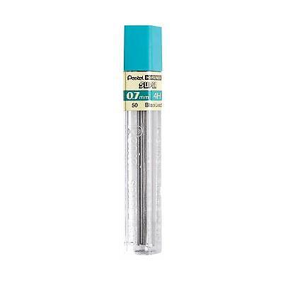 50-4h Pentel Hi-polymer Lead 0.7 Mm Medium 4h Black 1 Tube Of 12 Pcs. Lead