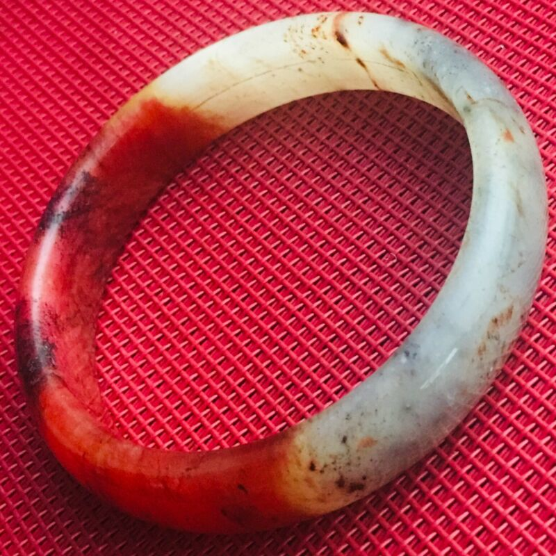 Chinese Natural Jade, Woman Bracelet, 77 mm Outside & 63 mm Inside, China.